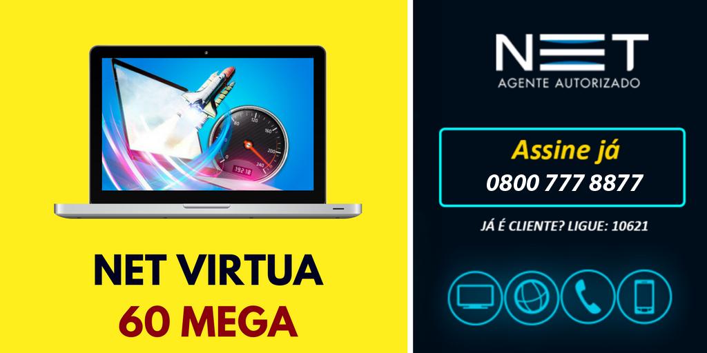 NET Virtua 60 Mega | 0800 777 8877 | Internet Rápida da ...